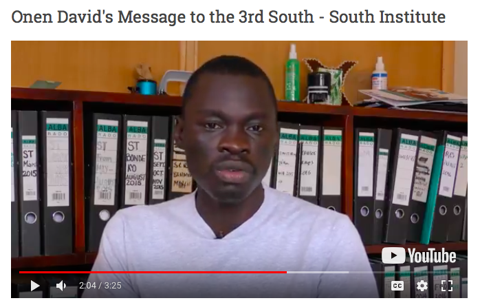 Onen David's Message for 3rd South-South Institute