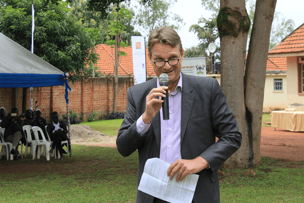 Chief Guest H.E Henk Jan Bakker officiating the event