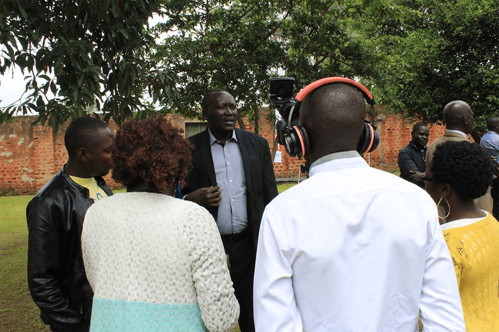 LCV Adjumani talking to the media