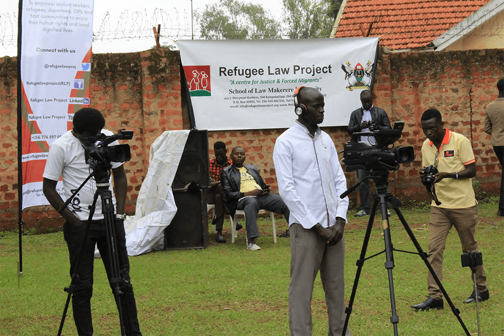 Media workers covering the event