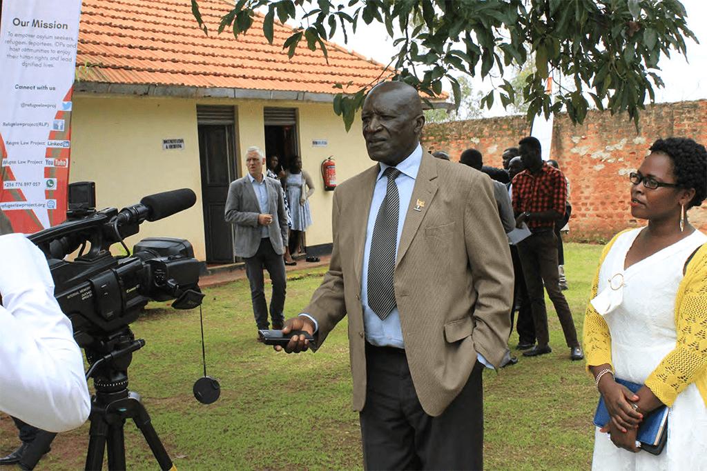 RDC Kiryandongo talking to the media