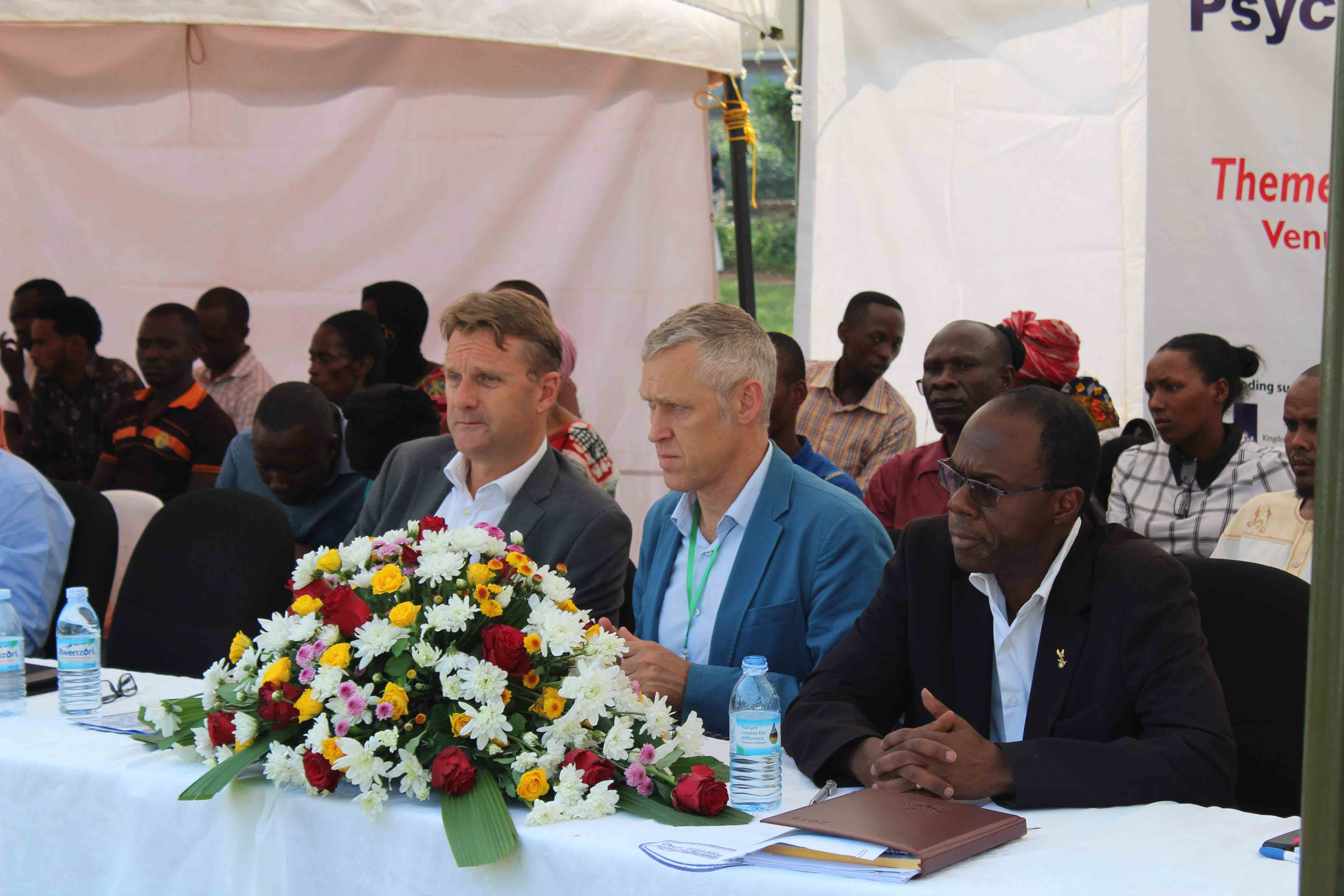Invited Guests, L-R; H.E Ambassador of the Netherlands to Uganda, RLP's Director, & CEO ACTV